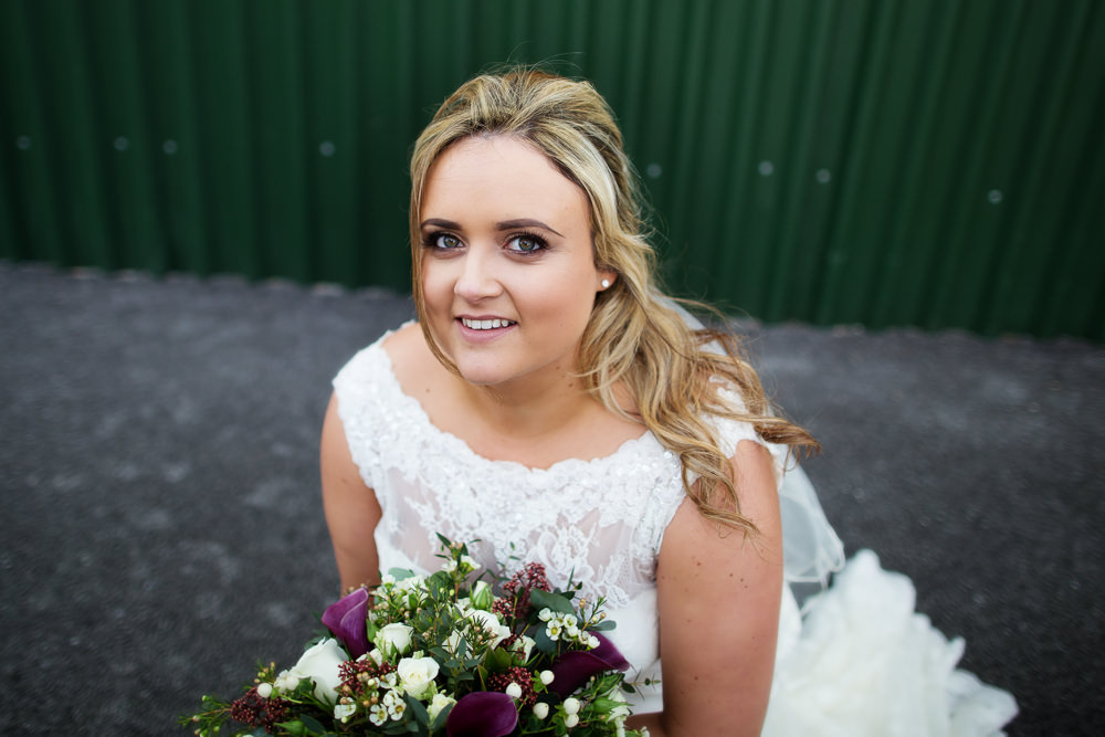 Bridal portrait at a Sandhole Oak barn wedding