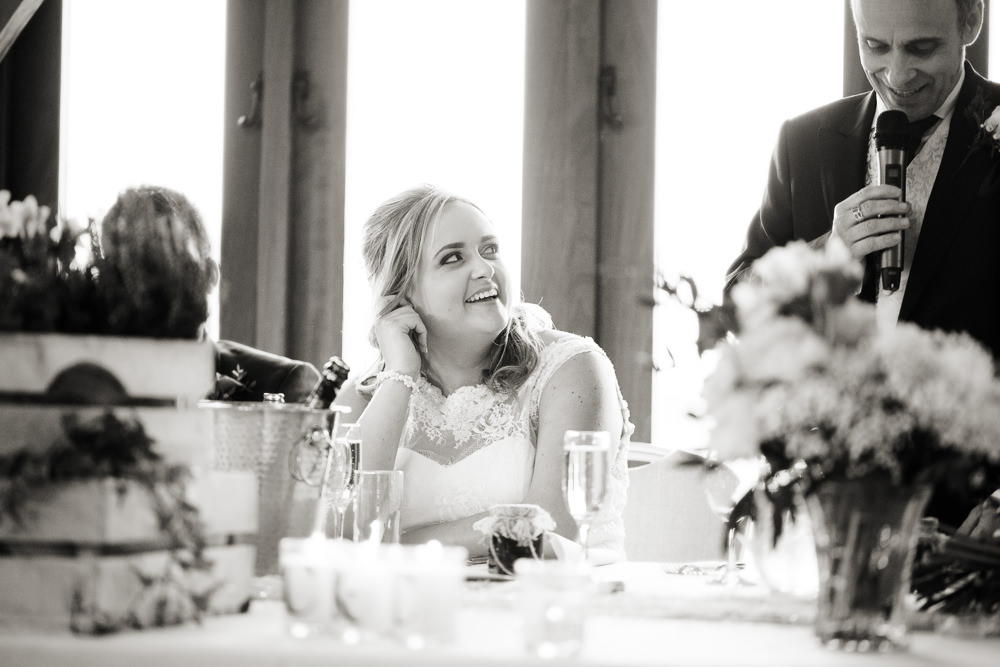 Father of the bride speech at a Sandhole Oak barn wedding