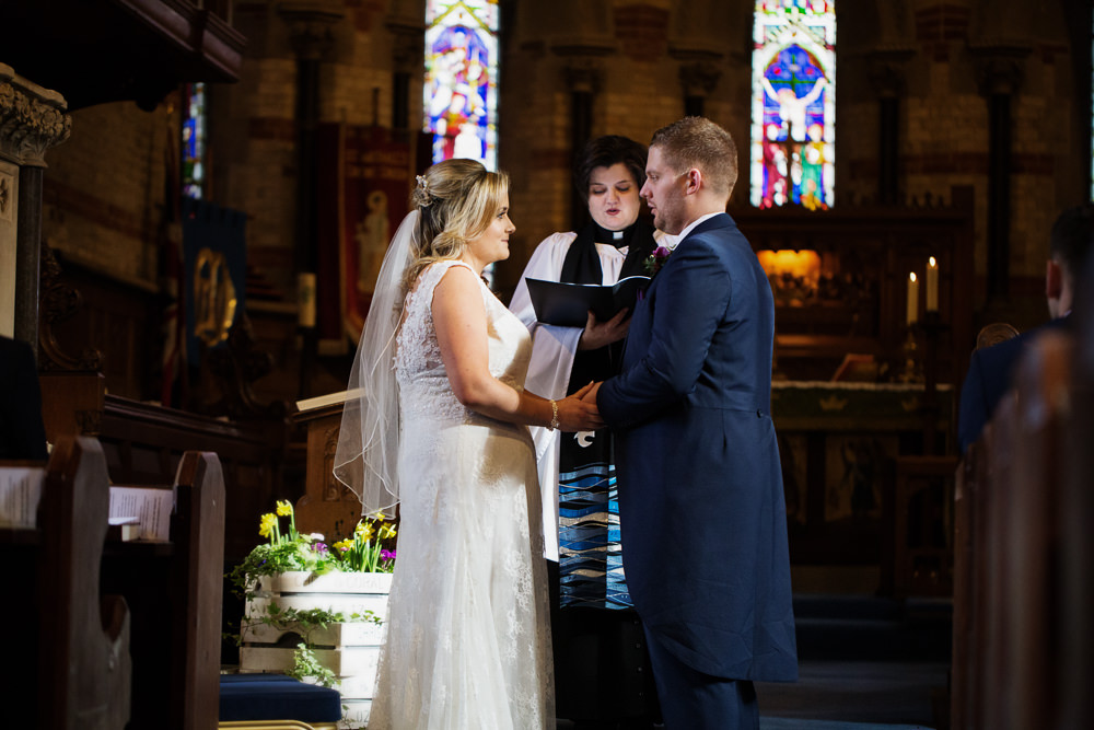 Vows a St Michaels Haslington church wedding