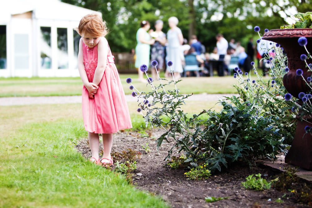 Little girl at a Haslington Hall wedding