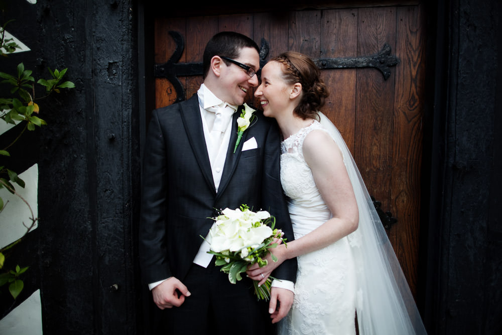 Bride & Groom at a Haslington Hall wedding