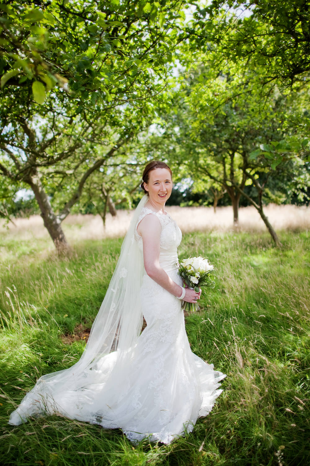 Bridal portait at a Haslington Hall wedding