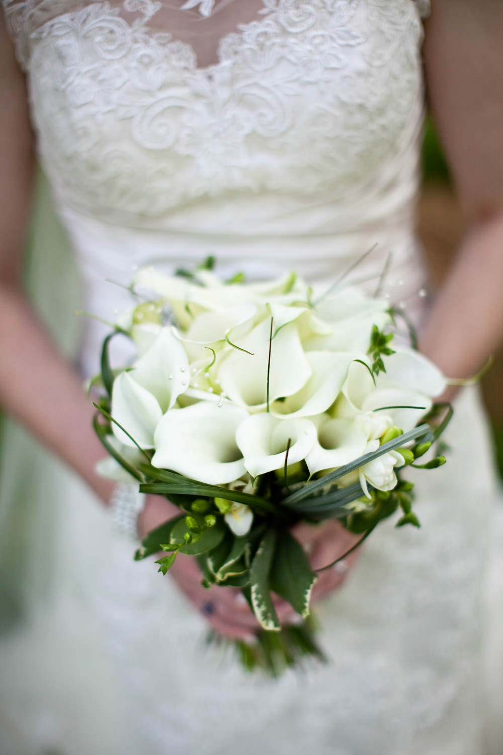 Bridal flowers at a Haslington Hall wedding