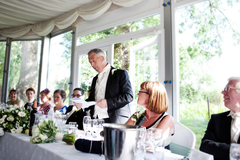 Father of the bride at a Haslington Hall wedding