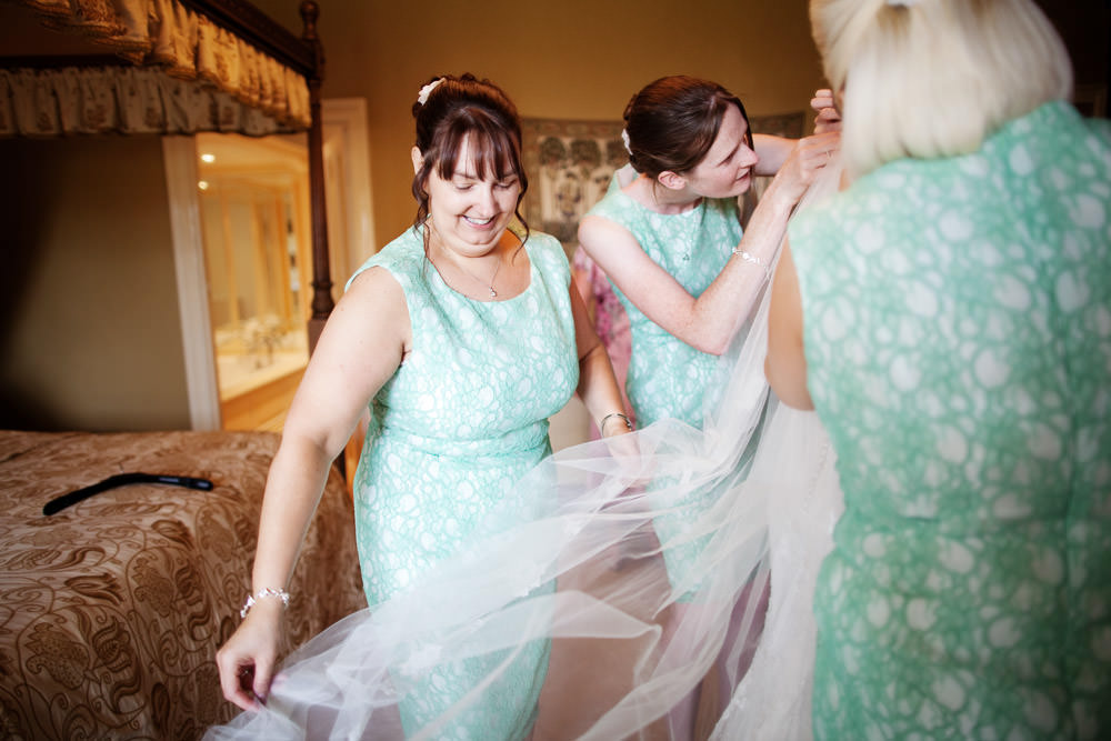 Bridesmaids at a Haslington Hall wedding