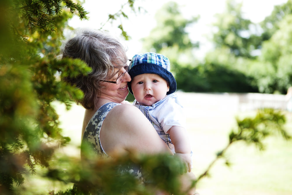 Mother and baby at a Haslington Hall wedding