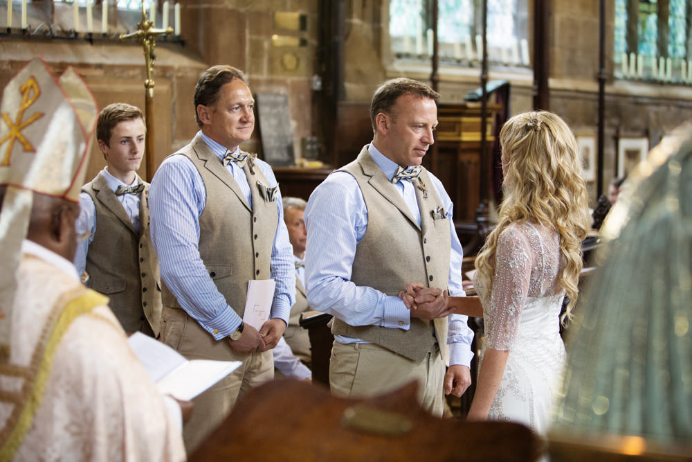 Church wedding at Gawsworth church in Macclesfield