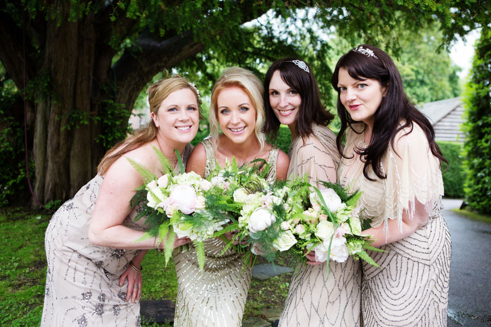 Bridesmaids at a Gawsworth hall wedding in Macclesfield