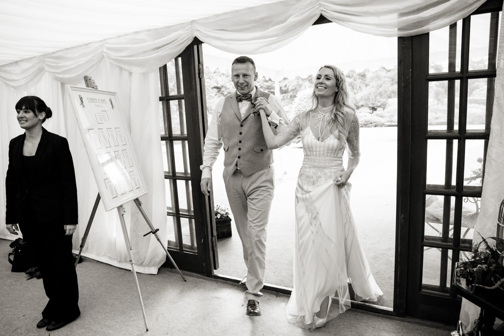 Bride and groom at a Gawsworth hall wedding in Macclesfield