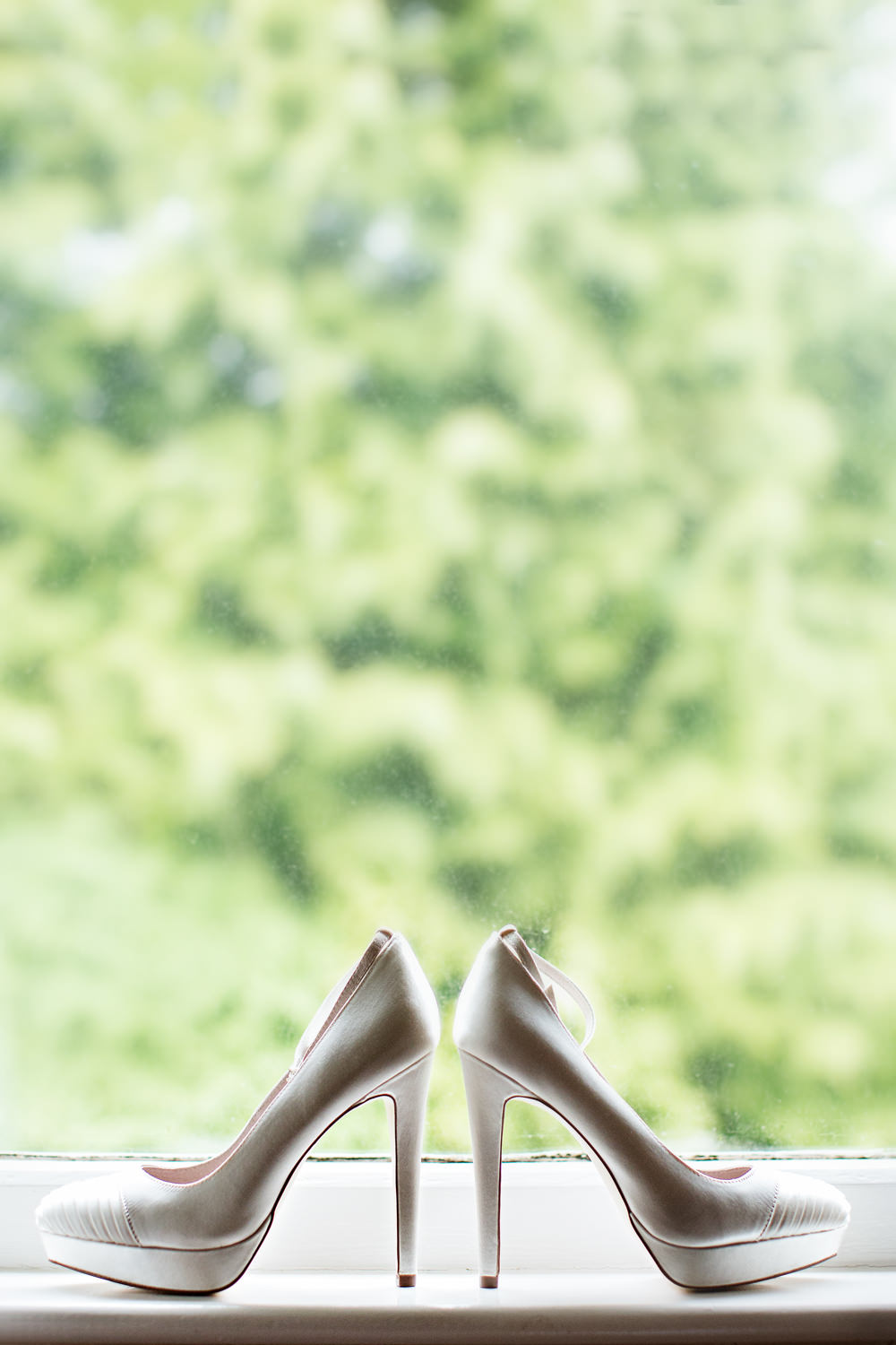 Wedding shoes at a Gawsworth hall wedding in Macclesfield